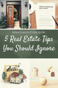 5 Real Estate Tips Sellers Should Ignore
